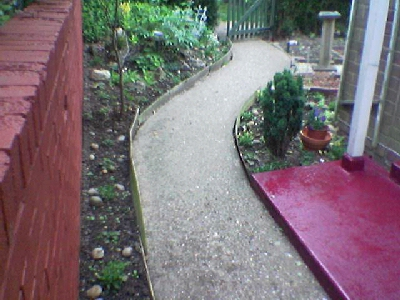 Front Path and Newly Painted Step